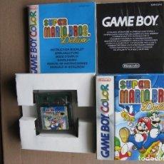 Videojuegos y Consolas: GAME BOY COLOR SUPER MARIO BROS. DELUXE (ORIGINAL COMPLETO). Lote 68975453
