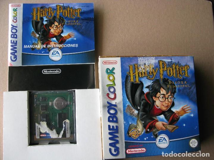 GAME BOY COLOR HARRY POTTER Y LA PIEDRA FILOSOFAL (ORIGINAL COMPLETO) (Juguetes - Videojuegos y Consolas - Nintendo - GameBoy Color)