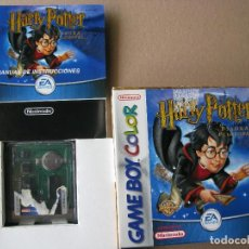 Videojuegos y Consolas: GAME BOY COLOR HARRY POTTER Y LA PIEDRA FILOSOFAL (ORIGINAL COMPLETO). Lote 68976377