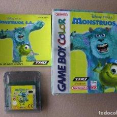Videojuegos y Consolas: GAME BOY COLOR MONSTRUOS S.A (ORIGINAL COMPLETO). Lote 68976849