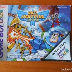 Videojuegos y Consolas: MANUAL DE INSTRUCCIONES - BUZZ LIGHTYEAR OF STAR COMMAND - GAME BOY COLOR - LEER DESCRIPCION (R2). Lote 89194904