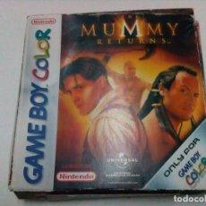 Videojuegos y Consolas: JUEGO GAME BOY COLOR LA MOMIA. Lote 111736624