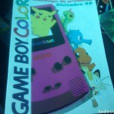 Videojuegos y Consolas: GAME BOY COLOR. CATÁLOGO DE PRODUCTOS. 1999. NUEVO.. Lote 101732170