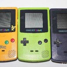 Videojuegos y Consolas: LOTE DE 3 GAME BOY COLOR PARA PIEZAS O REPARAR, NO FUNCIONAN.. Lote 103182355