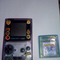 Videojuegos y Consolas: GAME BOY COLOR TRANSPARENTE + POKEMON CRISTAL. Lote 110115562