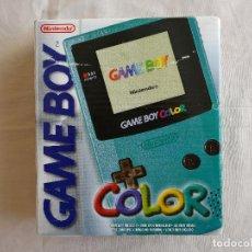 Videojuegos y Consolas: CONSOLA GAMEBOY COLOR CIAN (COMPLETA) POCO USO. Lote 114953999