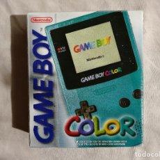 Videojuegos y Consolas: CONSOLA GAMEBOY COLOR CIAN (COMPLETA), SIN USO. Lote 114954087