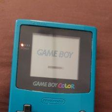Videojuegos y Consolas: NINTENDO GAMEBOY COLOR GAME BOY COLOR AZUL CON TAPADERA. Lote 187435907