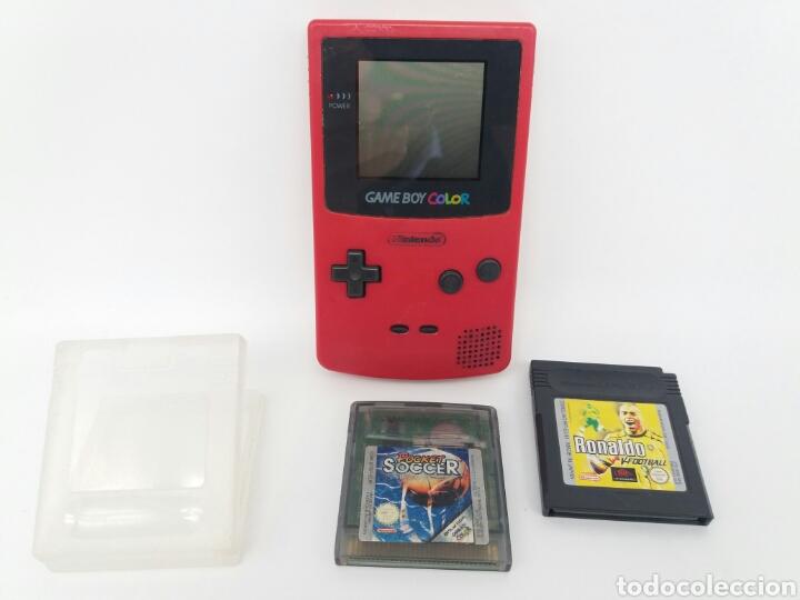 LOTE GAMEBOY COLOR + 2 JUEGOS (FUNCIONA) (Juguetes - Videojuegos y Consolas - Nintendo - GameBoy Color)
