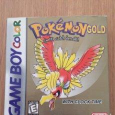Videojuegos y Consolas: POKEMON GAMEBOY COLOR GOLD VERSIÓN (CAJA E INTRUCCIONES) EDICIÓN USA NTSC. Lote 119285386