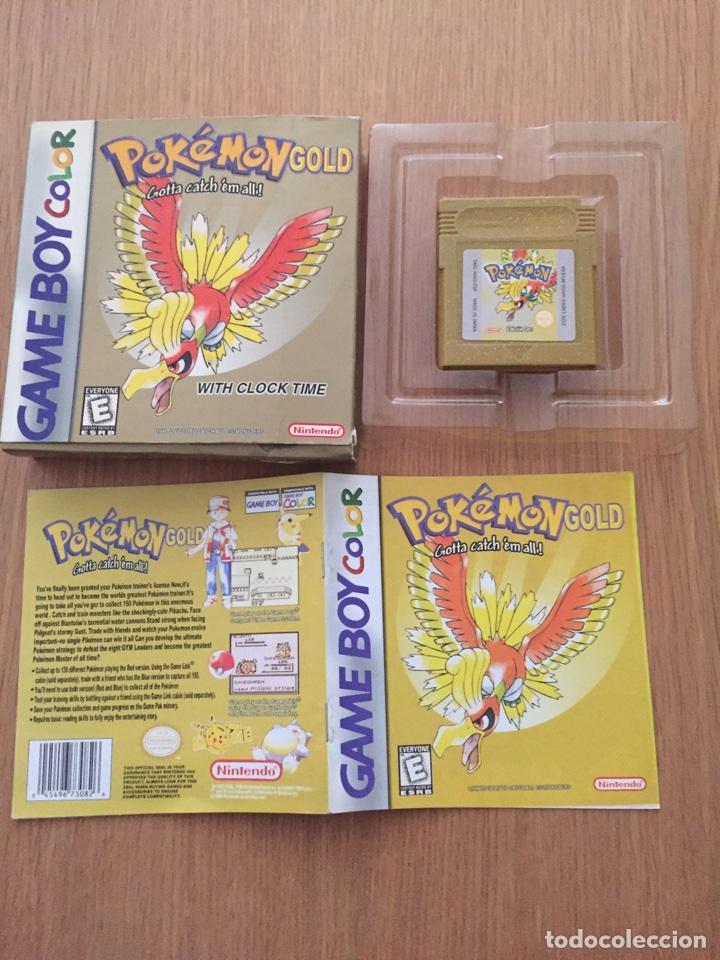 Videojuegos y Consolas: Pokemon Gameboy Color Gold Versión (Caja e Intrucciones) Edición USA NTSC - Foto 2 - 119285386