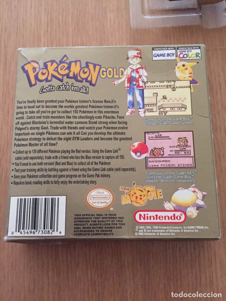 Videojuegos y Consolas: Pokemon Gameboy Color Gold Versión (Caja e Intrucciones) Edición USA NTSC - Foto 3 - 119285386