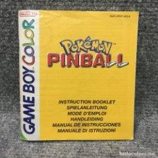 Videojuegos y Consolas: POKEMON PINBALL MANUAL DE INSTRUCCIONES NINTENDO GAME BOY COLOR. Lote 128502710