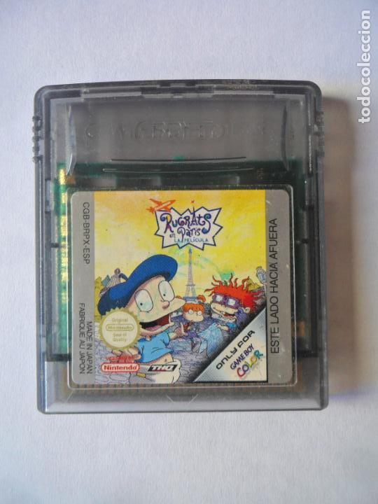 RUGRATS EN PARIS - JUEGO GAMEBOY GAME BOY COLOR NINTENDO - FUNCIONANDO- (Juguetes - Videojuegos y Consolas - Nintendo - GameBoy Color)