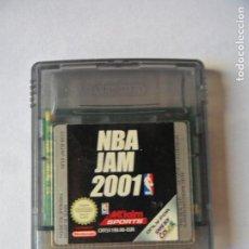 Videojuegos y Consolas: NBA JAM 2001 - JUEGO GAMEBOY GAME BOY COLOR NINTENDO - FUNCIONANDO-. Lote 130792560