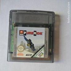 Videojuegos y Consolas: PURE RIDE MTV SNOWBOARD - JUEGO GAMEBOY GAME BOY COLOR NINTENDO - FUNCIONANDO-. Lote 130792604