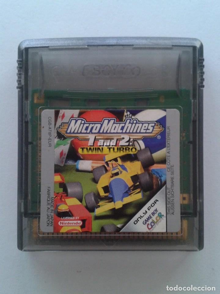 NINTENDO GAME BOY COLOR GBC MICRO MACHINES 1 AND 2 TWIN TURBO SOLO CARTUCHO PAL R7999, usado segunda mano