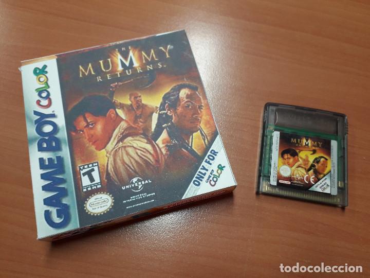 08-00259 GAME BOY COLOR - EL RETORNO DE LA MOMIA-MUMMY RETURNS ( CON CAJA CASERA) (Juguetes - Videojuegos y Consolas - Nintendo - GameBoy Color)