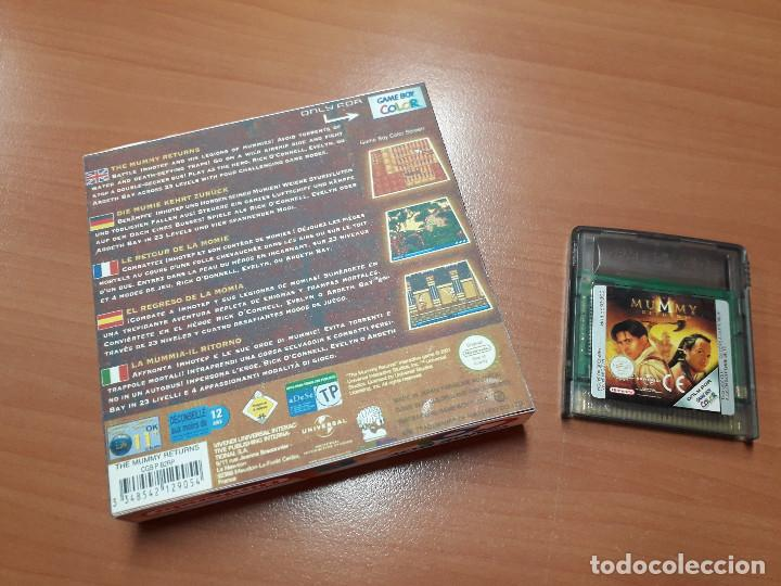 Videojuegos y Consolas: 08-00259 GAME BOY COLOR - EL RETORNO DE LA MOMIA-MUMMY RETURNS ( CON CAJA CASERA) - Foto 2 - 134869834