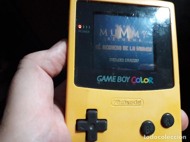 Videojuegos y Consolas: 08-00259 GAME BOY COLOR - EL RETORNO DE LA MOMIA-MUMMY RETURNS ( CON CAJA CASERA) - Foto 3 - 134869834