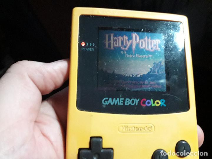 Videojuegos y Consolas: 08-00268 GAME BOY COLOR - HARRY POTTER Y LA PIEDRA FILOSOFAL ( CON CAJA CASERA) - Foto 3 - 134869906