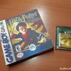 Videojuegos y Consolas: 08-00269 GAME BOY COLOR - HARRY POTTER Y LA CAMARA SECRETA ( CON CAJA CASERA). Lote 134869954