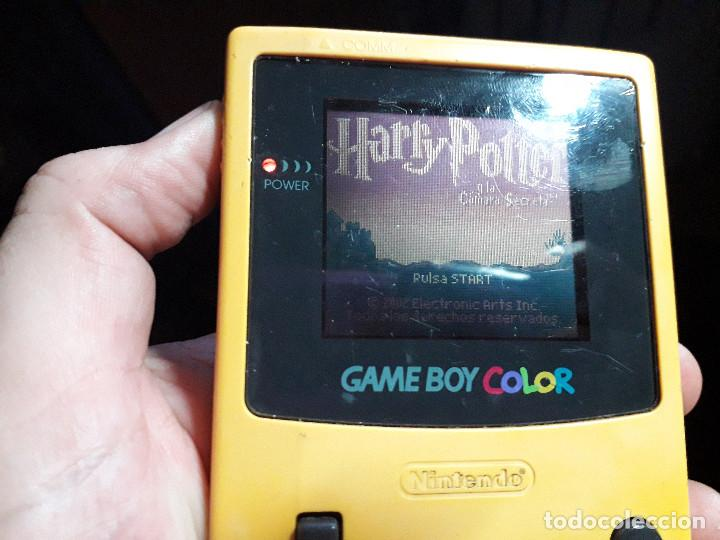 Videojuegos y Consolas: 08-00269 GAME BOY COLOR - HARRY POTTER Y LA CAMARA SECRETA ( CON CAJA CASERA) - Foto 3 - 134869954