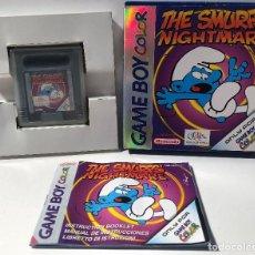 Videojuegos y Consolas: THE SMURFS' NIGHTMARE NINTENDO GAME BOY COLOR. Lote 135480726