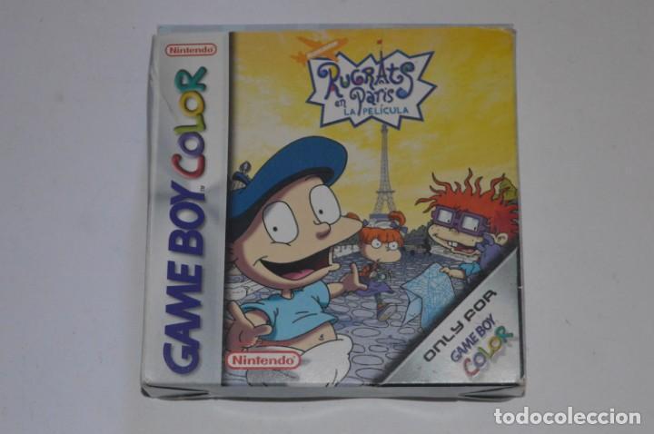 CAJA JUEGO NINTENDO GAME BOY COLOR GBC RUGRATS EN PARÍS LA PELÍCULA 2000 CREATINS PROEIN NO CARTUCHO (Juguetes - Videojuegos y Consolas - Nintendo - GameBoy Color)