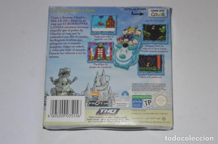 Videojuegos y Consolas: CAJA JUEGO NINTENDO GAME BOY COLOR GBC RUGRATS EN PARÍS LA PELÍCULA 2000 CREATINS PROEIN NO CARTUCHO - Foto 2 - 144615146
