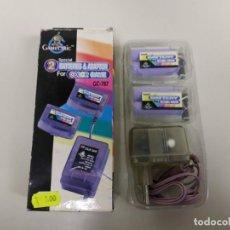 Videojuegos y Consolas: 1118- 2 BATERIAS & ADAPTADOR TRANSPARENTE PARA GAME BOY COLOR GC 787 NEW OLD STO. Lote 147202286