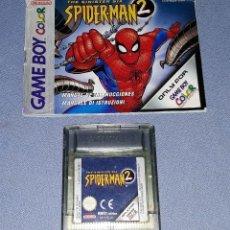 Videojuegos y Consolas: JUEGO NINTENDO GAME BOY COLOR SPIDERMAN 2 ORIGINAL EN BUEN ESTADO VER FOTO. Lote 147742246