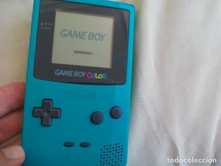 Consola nintendo game boy color, turquesa  gba, - Sold