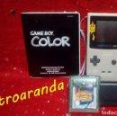 Videojuegos y Consolas: GAME BOY COLOR - GRIS METALIZADO *CON JUEGO: TOM RAIDER*. Lote 165411306