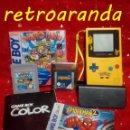 Videojuegos y Consolas: GAME BOY COLOR - AMARILLA/AZUL *CON JUEGO: SPIDERMAN 2 Y WARIO LAND 3*. Lote 165412638