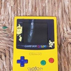 Videojuegos y Consolas: GAME BOY COLOR EDICIÓN PIKACHU Y JUEGO TETRIS. Lote 166729354
