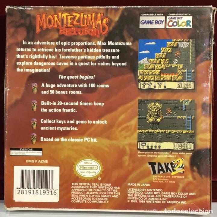 Videojuegos y Consolas: Juego GAME BOY COLOR MONTEZUMA'S RETURN - Foto 3 - 167798930