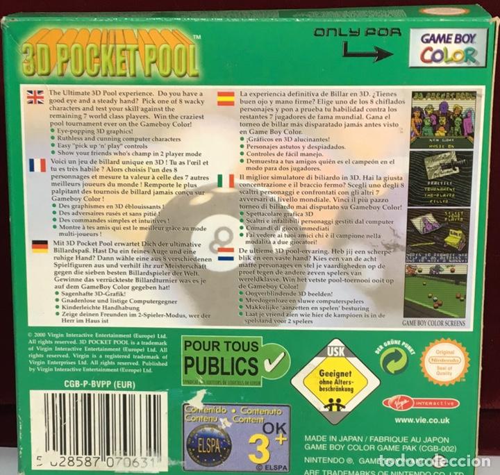 Videojuegos y Consolas: Juego GAME BOY COLOR 3D POCKET POOL - Foto 3 - 167799392