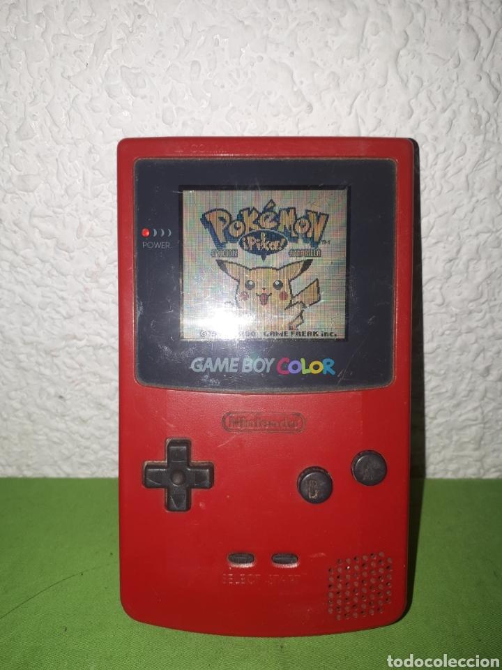NINTENDO GAME BOY COLOR ROJA SOLO CONSOLA SIN TAPADERA DE PILAS (Juguetes - Videojuegos y Consolas - Nintendo - GameBoy Color)