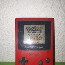 Videojuegos y Consolas: NINTENDO GAME BOY COLOR ROJA SOLO CONSOLA SIN TAPADERA DE PILAS. Lote 171795798