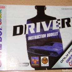 Videojuegos y Consolas: DRIVER MANUAL ORIGINAL ESPAÑOL NINTENDO GAME BOY GAMEBOY COLOR. Lote 184100378