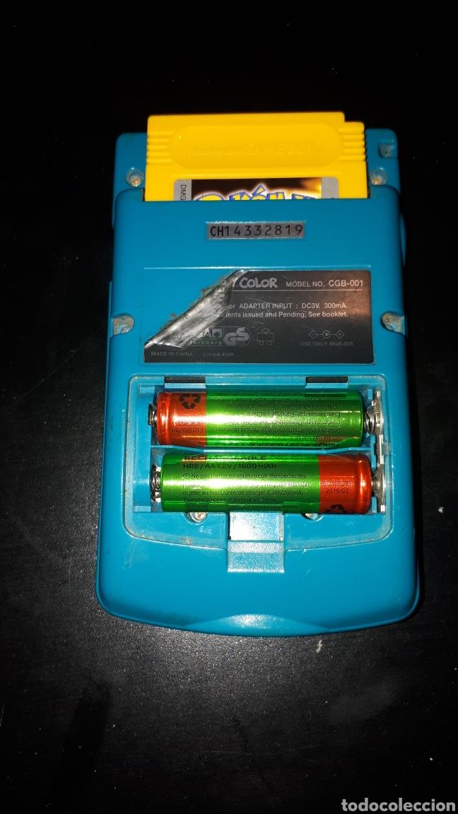 Videojuegos y Consolas: Consola GAME BOY COLOR AZUL TURQUESA FUNCIONANDO - Foto 2 - 184115516