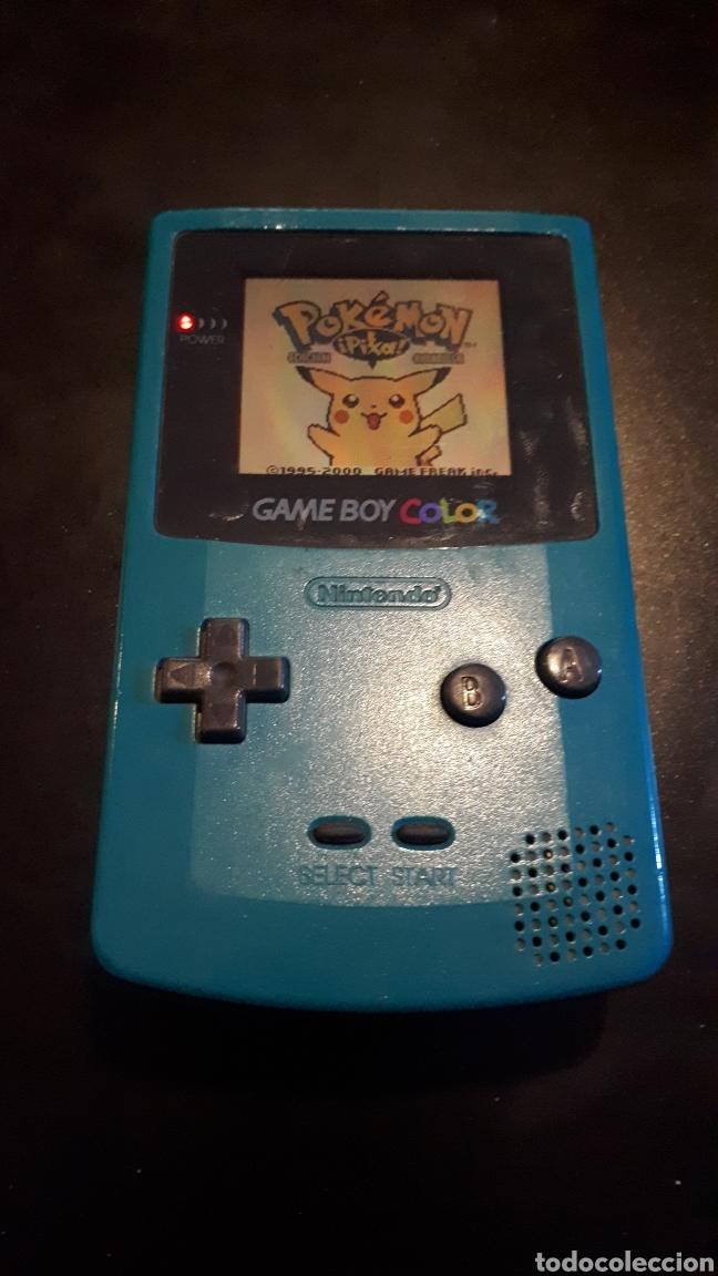 CONSOLA GAME BOY COLOR AZUL TURQUESA FUNCIONANDO (Juguetes - Videojuegos y Consolas - Nintendo - GameBoy Color)