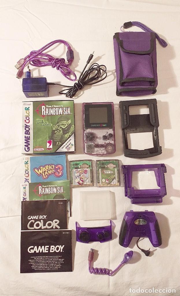 CONSOLA GAME BOY COLOR CGB-001 CON JUEGOS Y MUCHOS ACCESORIOS FUNCIONA PERFECTAMENTE (Juguetes - Videojuegos y Consolas - Nintendo - GameBoy Color)
