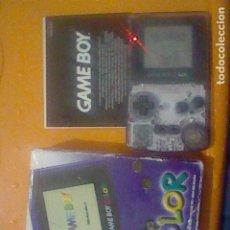 Videojuegos y Consolas: GAMEBOY COLOR TRASPARENTE EN CAJA FUNCIONANDO RARA . Lote 198024021