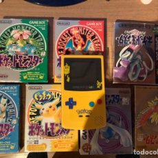 Videojuegos y Consolas: POCKET MONSTERS POKEMON ROJO VERDE AZUL AMARILLO PLATA ORO CRISTAL NINTENDO JUEGOS + GAME BOY COLOR. Lote 197149661