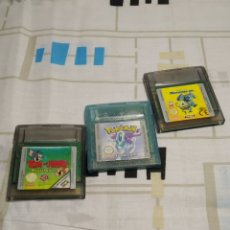 Videojuegos y Consolas: 3 JUEGOS GAME BOY DE NINTENDO COLOR, TOM Y JERRY ,MONSTERS,INC. Y POKEMON EDICION CRISTAL. Lote 205691778