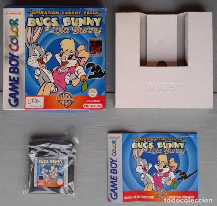 GAMEBOY COLOR GBC BUGS BUNNY & LOLA BUNNY COMPLETO CAJA Y MANUAL BOXED CIB PAL R11042 (Juguetes - Videojuegos y Consolas - Nintendo - GameBoy Color)