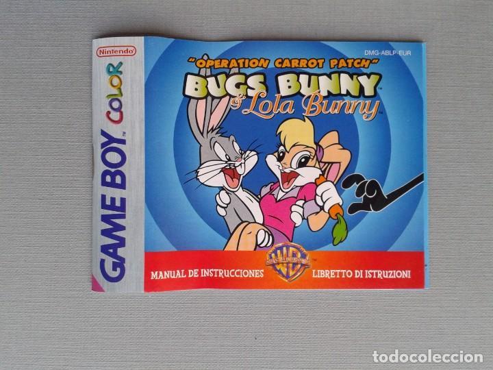 Videojuegos y Consolas: GAMEBOY COLOR GBC BUGS BUNNY & LOLA BUNNY COMPLETO CAJA Y MANUAL BOXED CIB PAL R11042 - Foto 2 - 205801250