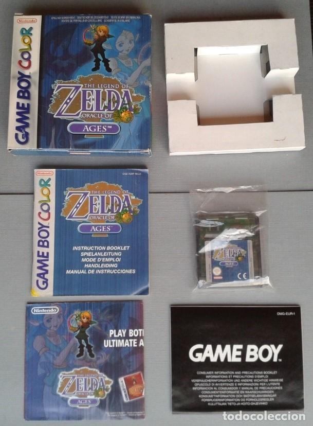 GAMEBOY COLOR GBC LEGEND OF ZELDA ORACLE AGES COMPLETO CAJA MANUAL BOXED CIB PAL R11043 (Juguetes - Videojuegos y Consolas - Nintendo - GameBoy Color)
